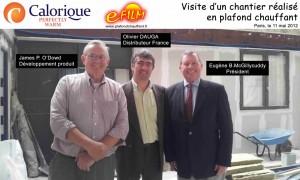 Visite des dirigeants de Calorique en France