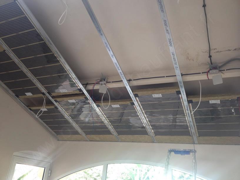 Pose ePan Roc, panneau chauffant pour plafond rayonnant plâtre | Le ...
